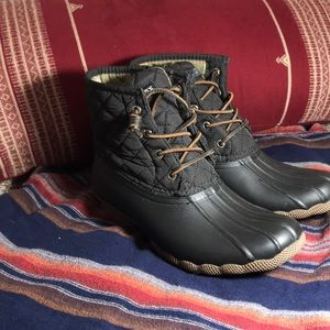 Black Sperry Top-Sider Duck Boots